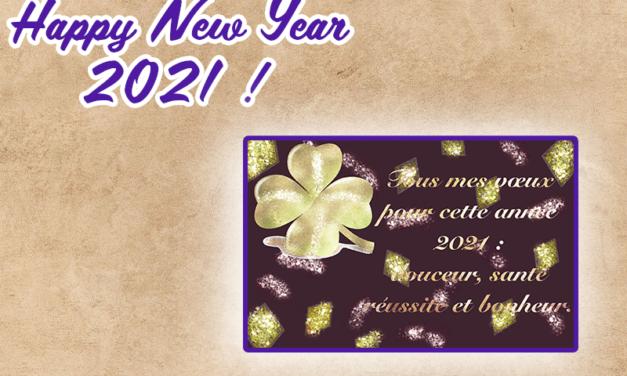 Billet d'humeur d'un premier janvier: que 2021 vous soit douce et paisible !